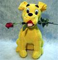 köpek ve agzinda  gül  Dikmen İlker internetten çiçek siparişi
