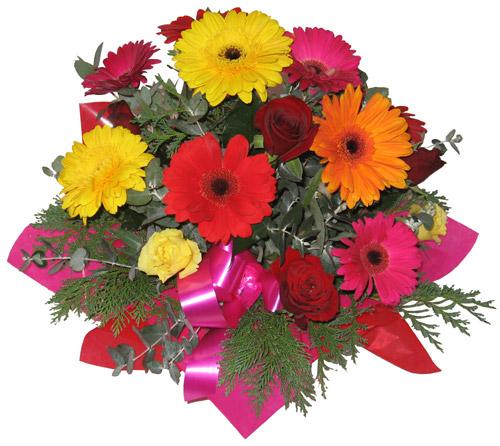 Karisik mevsim çiçeklerinden buket çiçekçi ankara Dikmen çiçek satışı