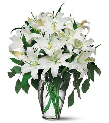 Ankara Dikmen kaliteli taze ve ucuz çiçekler  4 dal kazablanka ile görsel vazo tanzimi