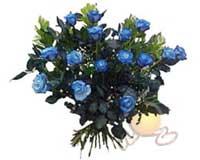 Öveçler Dikmen anneler günü çiçek yolla  11 adet mavi gül özel tanzim