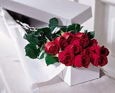 Ankara Dikmen 14 şubat sevgililer günü çiçek  özel kutuda 12 adet gül