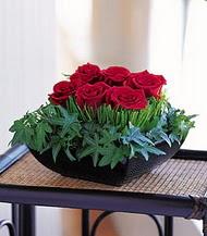 Dikmen ankara çiçek mağazası , çiçekçi adresleri  10 adet kare mika yada cam vazoda gül tanzim