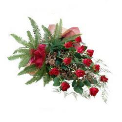 Ankara Dikmen İlker çiçek yolla , çiçek gönder , çiçekçi   10 adet kirmizi gül özel buket çiçek siparisi