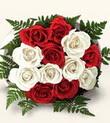 Öveçler Dikmen anneler günü çiçek yolla  10 adet kirmizi beyaz güller - anneler günü için ideal seçimdir -