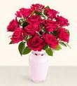Dikmen Keklikpınarı çiçek online çiçek siparişi  10 kirmizi gül cam yada mika vazo tanzim