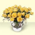 Dikmen Ankara çiçek gönder uluslararası çiçek gönderme  11 adet sari gül cam yada mika vazo içinde
