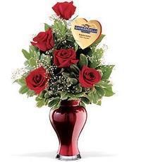 5 adet gül ve cam yada mika vazo özel Dikmen Ankara çiçek gönder uluslararası çiçek gönderme