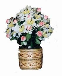 yapay karisik çiçek sepeti  ankara çiçekçi Dikmen ucuz çiçek gönder