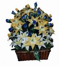 yapay karisik çiçek sepeti  Ankara Dikmen cicekciler , cicek siparisi