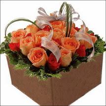 kare sandikta 11 gülllerden  çiçekçi Dikmen çiçek servisi , çiçekçi adresleri