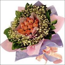11  adet  gül ve   elyaflar  çiçekçi Dikmen çiçek servisi , çiçekçi adresleri