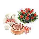 ayicik yaspasta ve gül  Ankara Dikmen Osmantemiz online çiçek gönderme sipariş