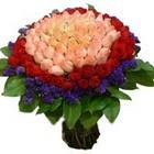 71 adet renkli gül buketi  Dikmen Akpınar Ankara  hediye sevgilime hediye çiçek