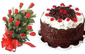 Ankara Dikmen kaliteli taze ve ucuz çiçekler  12 ADET KIRMIZI GÜL BUKET VE YASPASTA