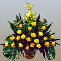 Ankara Dikmen Mürseluluç hediye çiçek yolla  17 adet sari gül ve sari kir çiçekleri