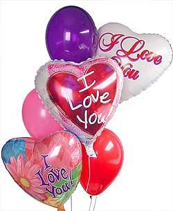 Ankara Dikmen kaliteli taze ve ucuz çiçekler  Sevdiklerinize 17 adet uçan balon demeti yollayin.