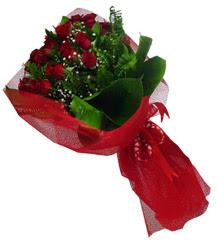 Ankara Dikmen Osmantemiz online çiçek gönderme sipariş  10 adet kirmizi gül demeti