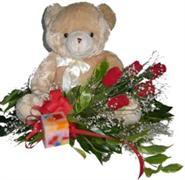 Ankara Dikmen İlker çiçek yolla , çiçek gönder , çiçekçi   5 adet gül , mum ve ayicik sevdiklerinize özel