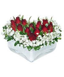 Aşağı Dikmen ankara çiçekçi telefonları yurtiçi ve yurtdışı çiçek siparişi  mika kalp içerisinde 9 adet kirmizi gül