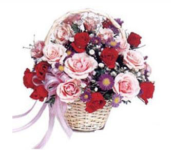 Yukarı Dikmen ankara çiçekleri güvenli kaliteli hızlı çiçek  Karisik gül sepeti 13 adet gül güller