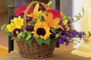 Öveçler Dikmen anneler günü çiçek yolla  Karisik mevsim çiçeklerinden sepet tanzimi