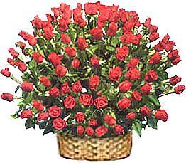 Dikmen İlker internetten çiçek siparişi  51 adet kirmizi gül sepet içerisinde