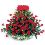 Dikmen Naciçakır çiçekçi mağazası  41 adet kirmizi gülden sepet tanzimi