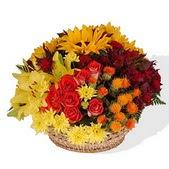 Ankara Dikmen İlker çiçek yolla , çiçek gönder , çiçekçi   karisik mevsim çiçeklerinden aranjman