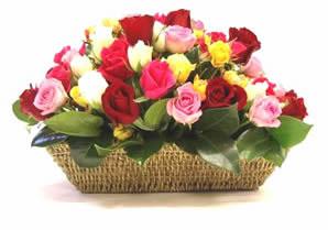 çiçekçi Dikmen çiçek servisi , çiçekçi adresleri  karisik 15 adet gül sepet modeli