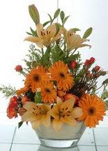 ankara çiçekçi Dikmen ucuz çiçek gönder  cam yada mika vazo içinde karisik mevsim çiçekleri