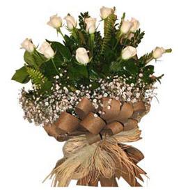 Dikmen Ankara çiçek gönder uluslararası çiçek gönderme  9 adet beyaz gül buketi