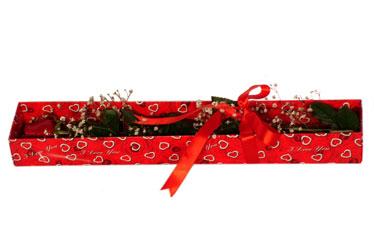 Dikmen Ankara çiçek gönder uluslararası çiçek gönderme  kutu içerisinde 1 adet kirmizi gül