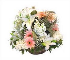 Aşağı Dikmen ankara çiçekçi telefonları yurtiçi ve yurtdışı çiçek siparişi  karisik çiçekler sepet içerisinde