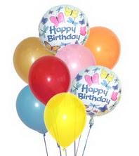 Dikmen Keklikpınarı çiçek online çiçek siparişi  17 adet karisik renkte uçan balonlar