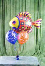 Ankara Dikmen İlker çiçek yolla , çiçek gönder , çiçekçi   9 adet uçan balon renkli oyuncak balonlar