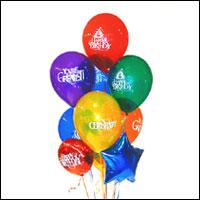 Dikmen İlker internetten çiçek siparişi  21 adet renkli uçan balon hediye ürünü