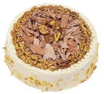 Karamelli 4 ile 6 kisilik yas pasta Dikmen cicek , cicekci