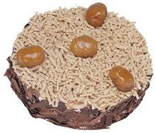 Kestahaneli yas pasta 4 ile 6 kisilik pasta Dikmen ankara çiçek mağazası , çiçekçi adresleri