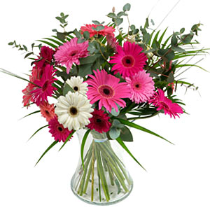 15 adet gerbera ve vazo çiçek tanzimi Ankara Dikmen İlker çiçek yolla , çiçek gönder , çiçekçi