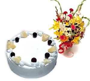 4 -6 kisilik Yaspasta ve karisik buket Ankara Dikmen kaliteli taze ve ucuz çiçekler