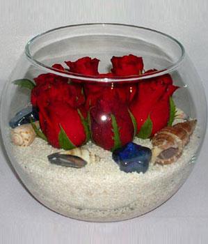 Cam fanus içeirsinde 9 adet kirmizi gül Ankara çiçek satışı Dikmen online çiçekçi , çiçek siparişi