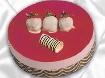 pasta siparisi 4 ile 6 kisilik yas pasta çilekli yaspasta ankara çiçekçi Dikmen ucuz çiçek gönder