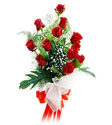 11 adet kirmizi güllerden görsel sölen buket Ankara çiçek satışı Dikmen online çiçekçi , çiçek siparişi
