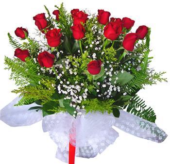 11 adet gösterisli kirmizi gül buketi Ankara Dikmen kaliteli taze ve ucuz çiçekler