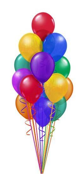 17 adet renkli uçan balon dogum günü parti