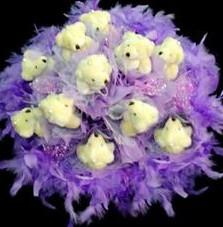 11 adet pelus ayicik buketi Öveçler Dikmen anneler günü çiçek yolla
