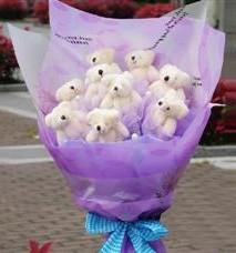 11 adet pelus ayicik buketi Dikmen Akpınar Ankara  hediye sevgilime hediye çiçek