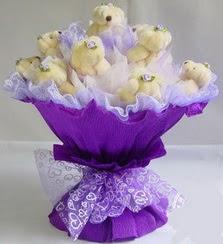 15 adet ayiciktan ayi buketi Ankara Dikmen çiçek siparişi sitesi