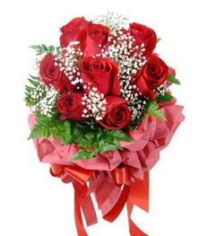 9 adet en kaliteli gülden kirmizi buket ankara çiçekçi Dikmen ucuz çiçek gönder