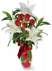 Ankara çiçek satışı Dikmen online çiçekçi , çiçek siparişi  5 adet kirmizi gül ve 3 kandil kazablanka